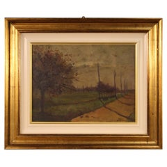 20th Century Oil on Panel Italian Signed Landscape Painting, 1960