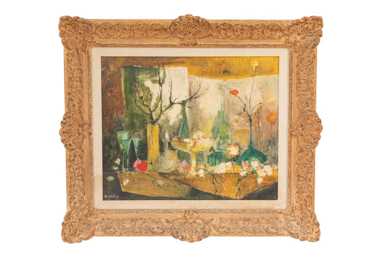 20th century oil painting by French Artist Dolbeau. Signed.