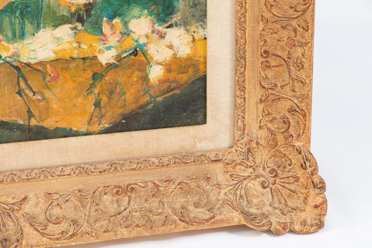 20th Century Oil Painting by French Artist Dolbeau In Good Condition For Sale In Los Angeles, CA