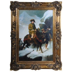20th Century Oil Painting Napoleon on His Horse