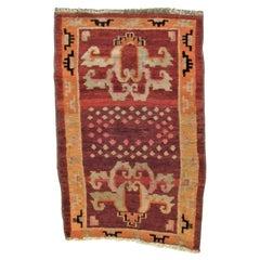 20th Century Orange Red Meditation Kaden Tibetan Rug, € 850, ca 1950