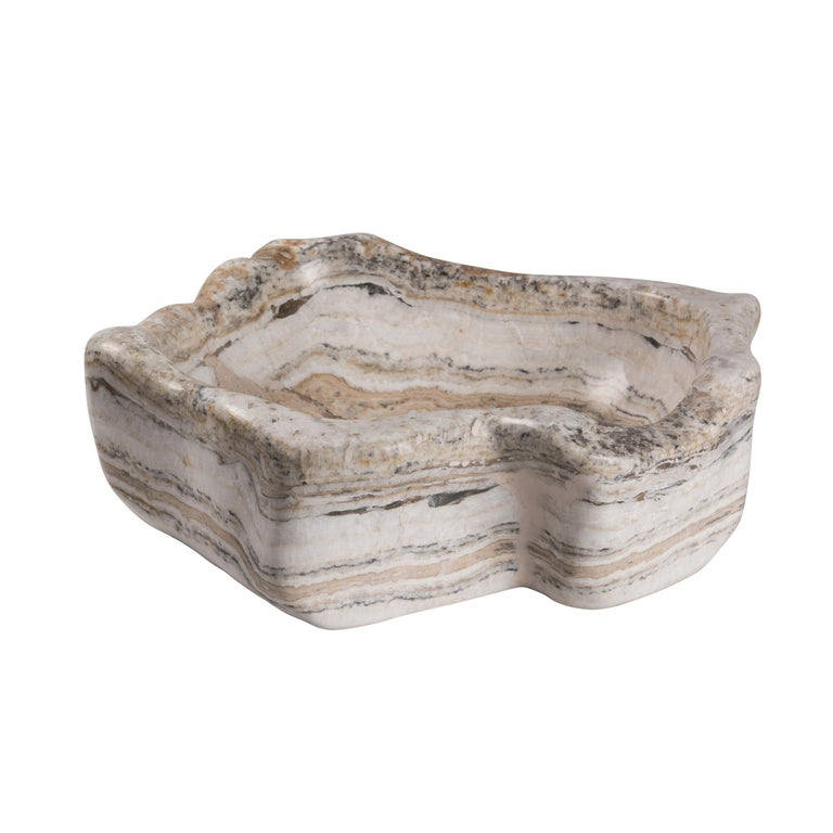 Organic Modern 20th Century Organic Onyx Basin Decorative Bowl  For Sale
