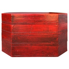 20th Century Oriental Lacquered Red Drinks Table
