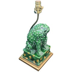 20th Century Oriental Toad as Lamp