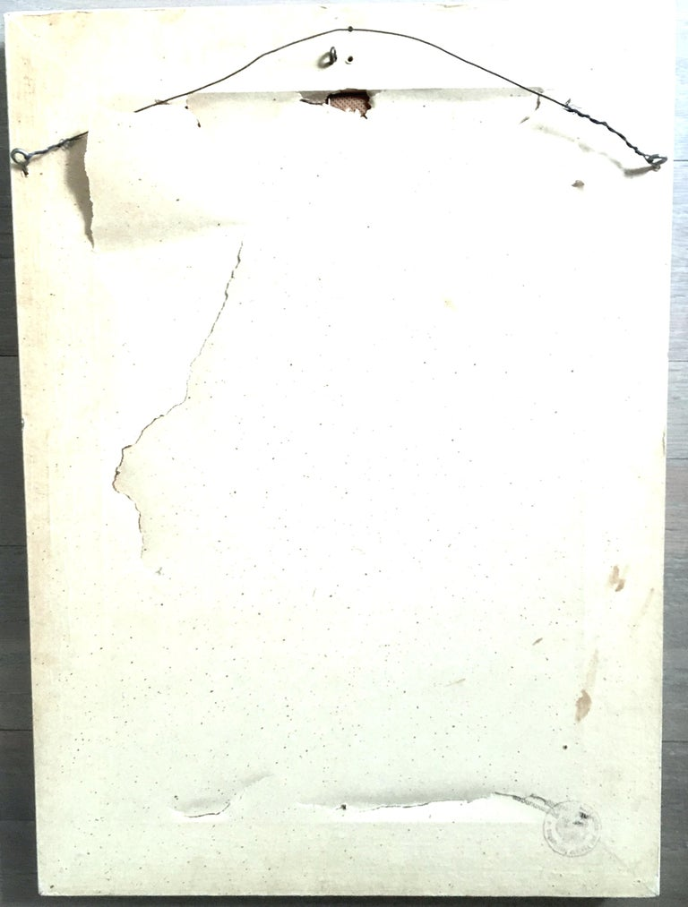 20th Century Original Enamel on Copper Abstract Painting, Signed For Sale 9