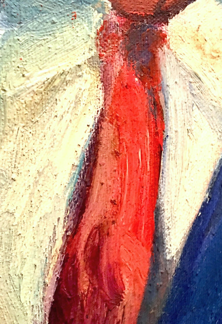 20th Century Original Oil On Canvas Painting by, M. Reno For Sale 2