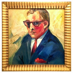 20th Century Original Oil On Canvas Painting by, M. Reno