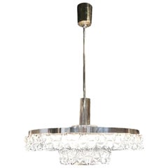 20th Century Orrefors Ceiling Lamp, Swedish Pendant by Carl Fagerlund