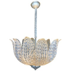 20th Century Orrefors Leaf Ceiling Lamp by Carl Fagerlund