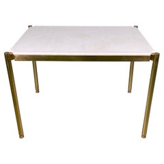 20th Century Osvaldo Borsani Low Table in Brass and Rare Sivec Marble for Tecno