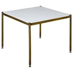 20th Century Osvaldo Borsani Low Table in Metal and Marble for Tecno