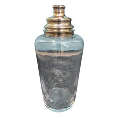 20th Century Oversized Sterling Silver and Crystal Cocktail Shaker