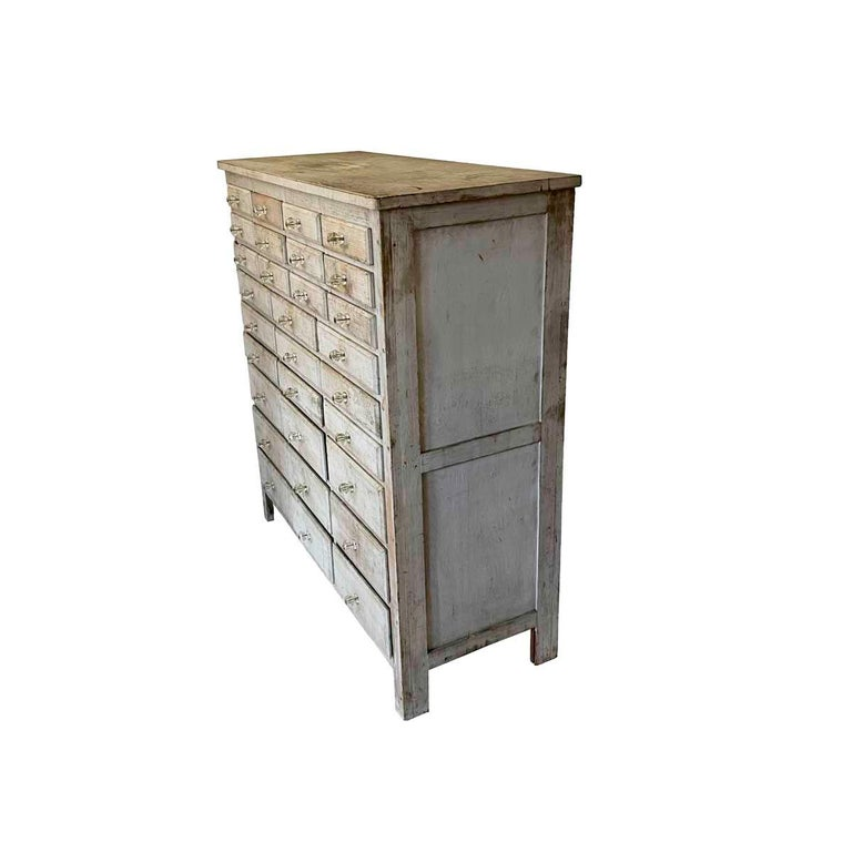 American 20th Century Painted 30 Drawer Apothecary or Country Store Cabinet