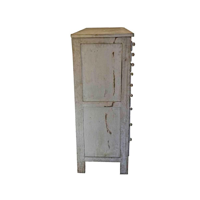 Hand-Crafted 20th Century Painted 30 Drawer Apothecary or Country Store Cabinet