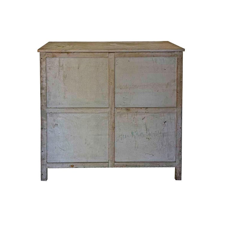 20th Century Painted 30 Drawer Apothecary or Country Store Cabinet In Good Condition In Nantucket, MA