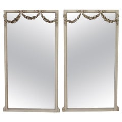 20th Century Painted and Carved French Style Mirrors