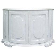 20th Century Painted Demilune Cabinet / Credenza, Custom Finish