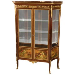 20th Century Painted Mahogany Wood French Display Cabinet, 1920