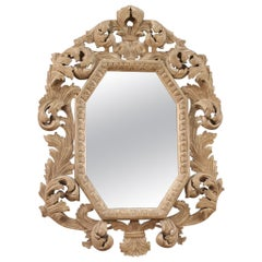 20th Century Painted Wood Italian Mirror, 1970