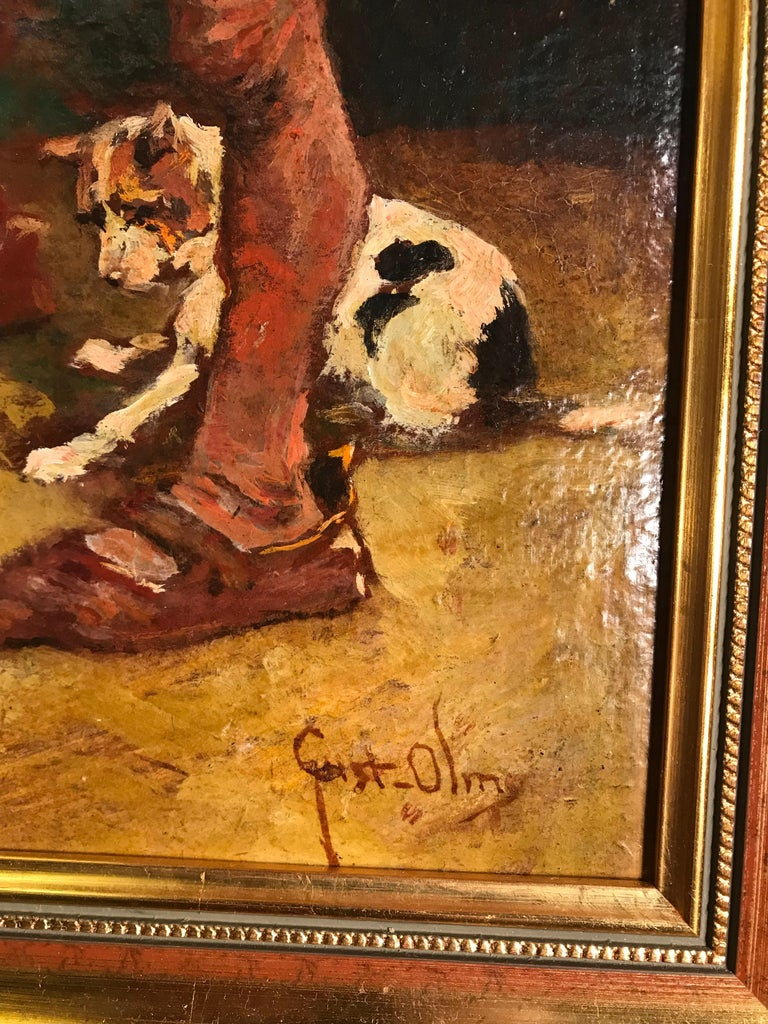 German 20th Century Painting by Gustav Ohm For Sale
