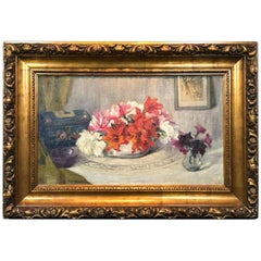 20th Century Painting Still Life with Flowers