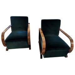 20th Century Pair  Art Deco Armchairs