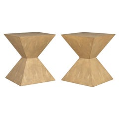 20th Century Pair of Art Deco Inspired Side Tables by Julian Chichester