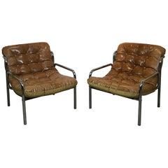 20th Century Pair of Design Chairs Guido Faleschini
