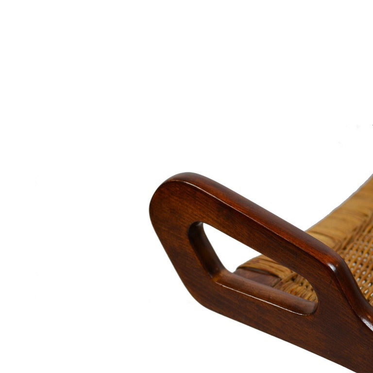20th Century Pair of Folding Armchairs Model Ninfea by Gio Ponti Wood and Reed 3