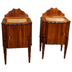 20th Century Pair of French Art Deco Nightstands