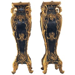 20th Century Pair of French Jardiniere Stands or Plinths in Louis XV Style