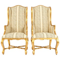 Giltwood Framed Bergeres Chairs / Side Armchairs