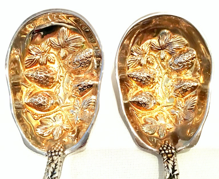20th Century Pair of Godinger for Neiman Marcus Silver Plate Serving Spoons S/2 For Sale 1