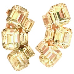 20th Century Pair Of Gold & Austrian Crystal Earrings By, Weiss