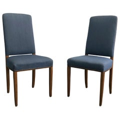 20th Century Pair of Gustavian Blue Dining Chairs by Carl Malmsten