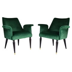 Pair of 20th Century Italian Armchairs, 1940s