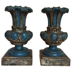 20th Century Pair of Italian Renaissance Style Table Lamp Bases Center Vases