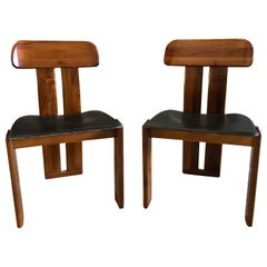 20th Century Pair of Italian Side Chairs by Tobia Scarpa