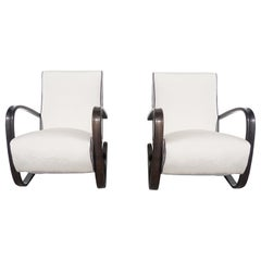 20th Century Pair of Lounge Chairs by Jindrich Halabala