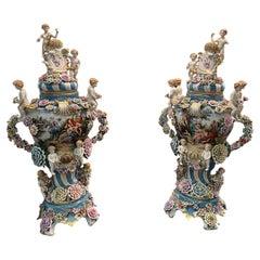 20th Century, Pair of Meissen Porcelain Vases