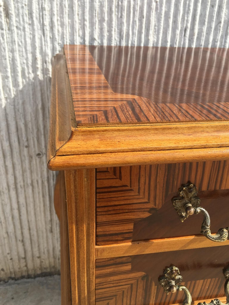 Wood 20th Century Pair of Mid-Century Modern Nightstands with Two Drawers, Italy For Sale
