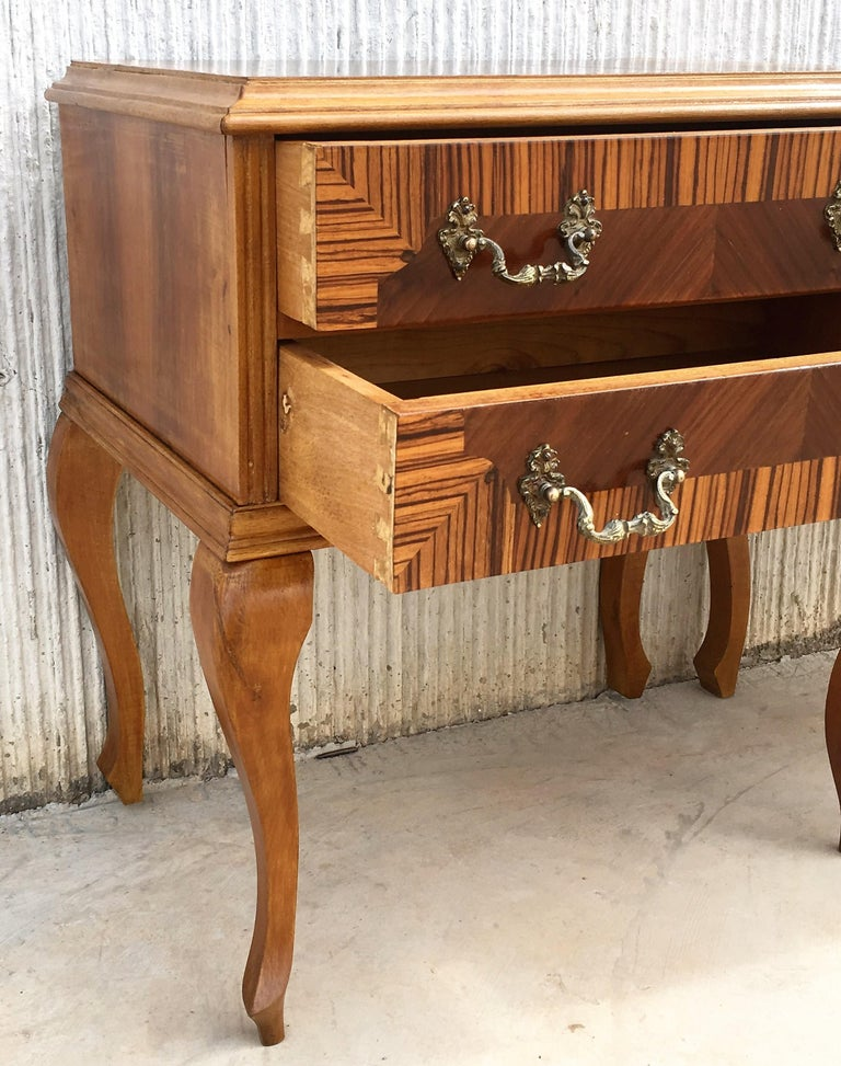 20th Century Pair of Mid-Century Modern Nightstands with Two Drawers, Italy For Sale 2