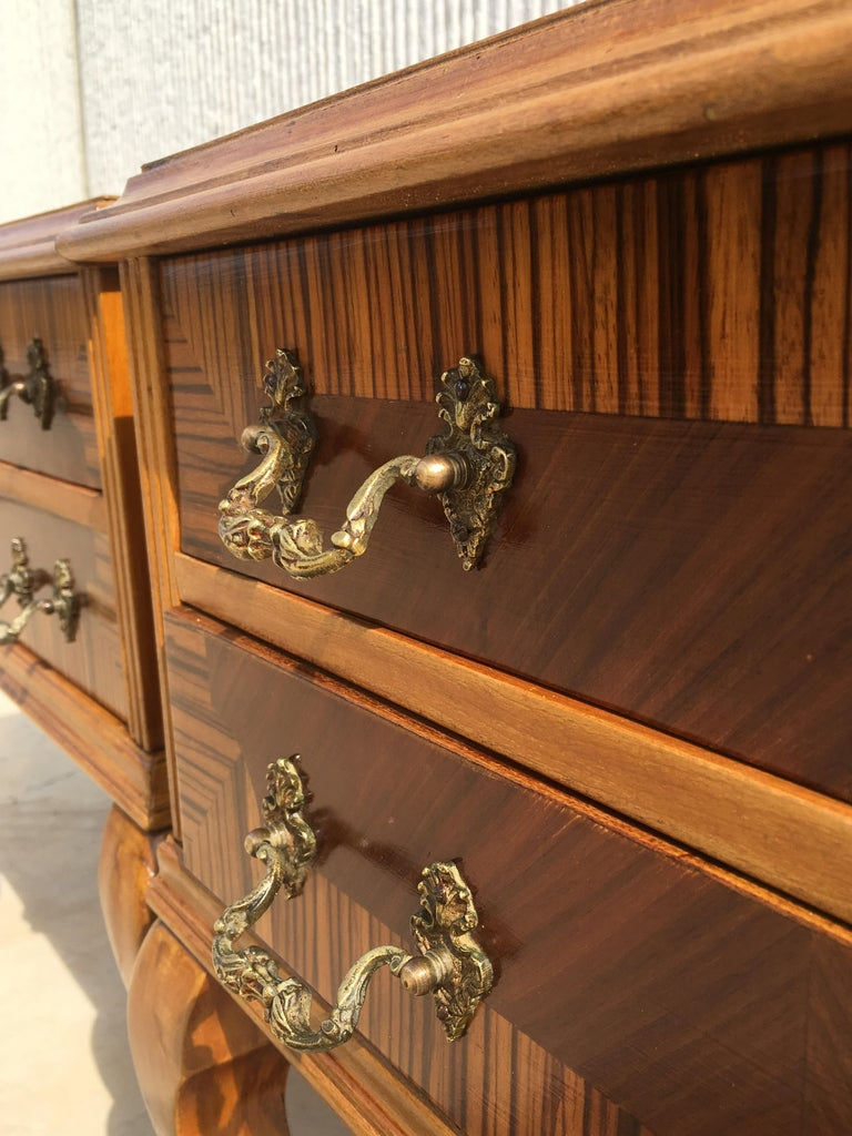 20th Century Pair of Mid-Century Modern Nightstands with Two Drawers, Italy For Sale 3