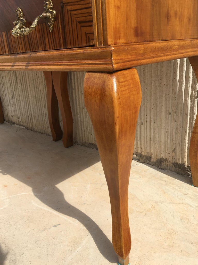 20th Century Pair of Mid-Century Modern Nightstands with Two Drawers, Italy For Sale 4