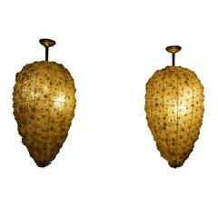 20th Century Pair of Murano Chandeliers