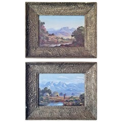 20th Century Pair of Oil on Boards by Percy Wort of Natal South African Scenes
