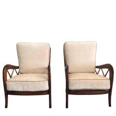20th Century Pair of Paolo Buffa Armchairs