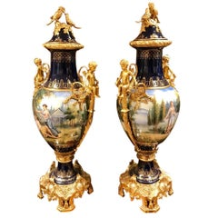 20th Century, Pair of Sèvres -Style Vases - European