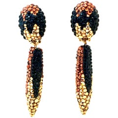 20th Century Pair Of Swarovski Crystal Dangle Earrings By, James Arpad