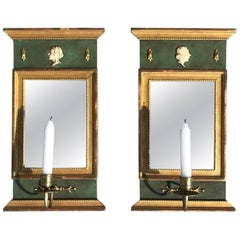 20th Century Pair of Swedish Gustavian Wall Sconces & Candle Cup by Kurt Ekvall